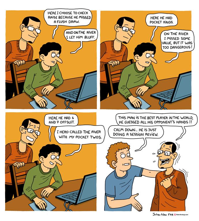 Funny Poker Cartoons Hand review