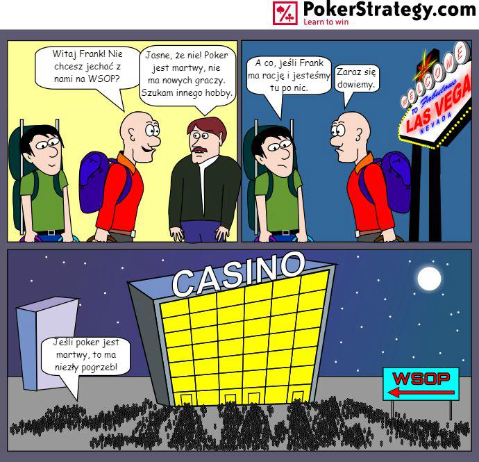 Śmieszny Pokerowy Komiks Las Vegas