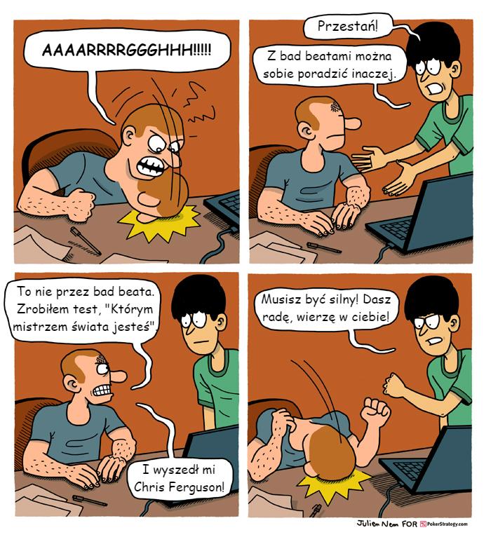 Śmieszny Pokerowy Komiks Chris Ferguson