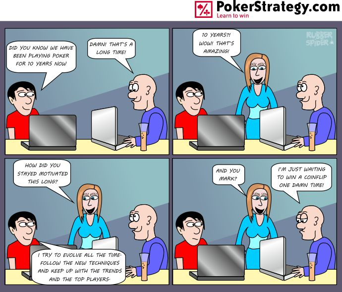 Funny Poker Cartoons Coinflip