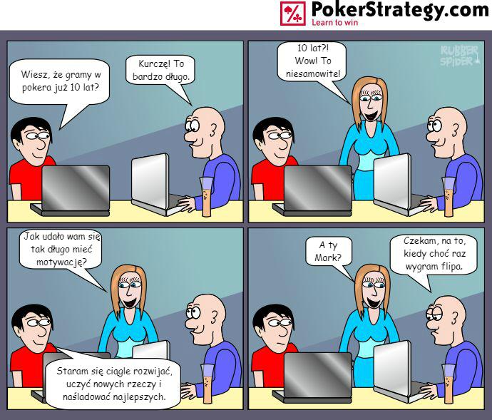 Śmieszny Pokerowy Komiks Coinflip