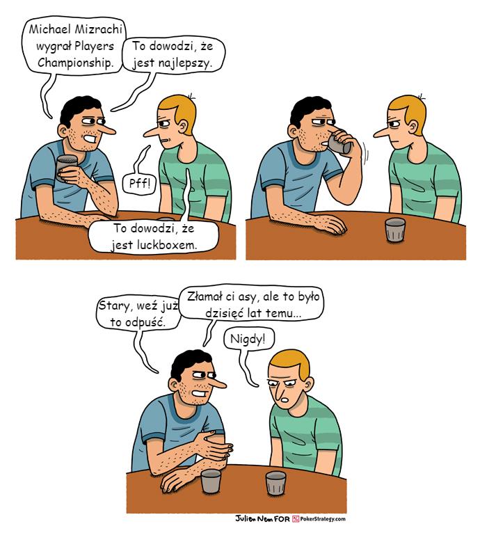 Śmieszny Pokerowy Komiks Michael Mizrachi