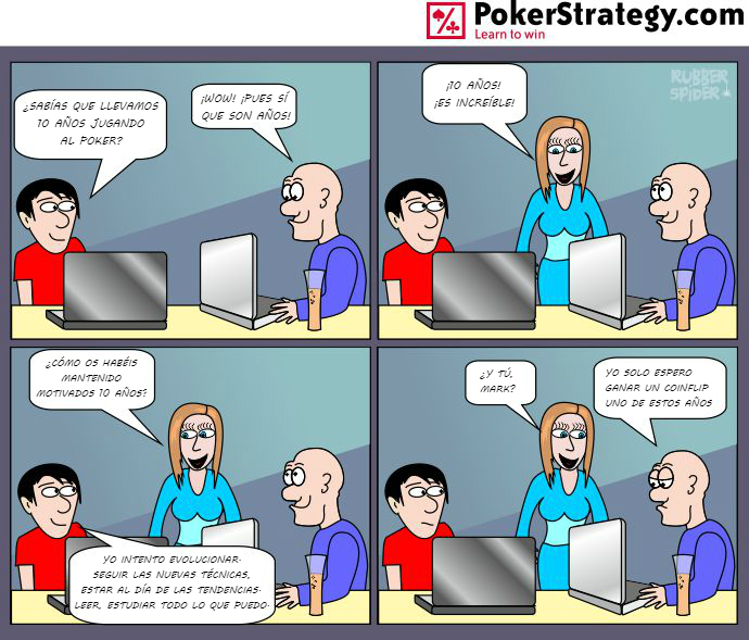Tiras de poker divertidas Coinflip