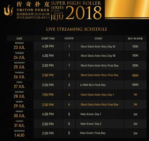triton schedule