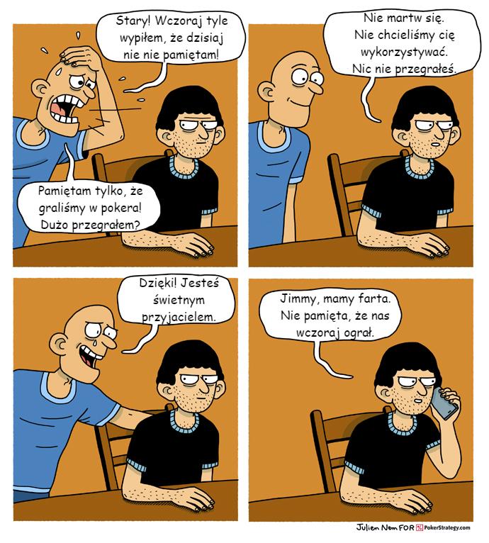 Śmieszny Pokerowy Komiks Gra domowa