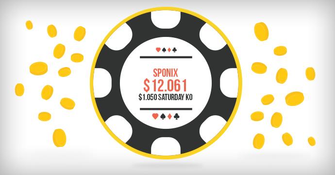 Sponix выиграл $12.061 в $1.050 Saturday KO!