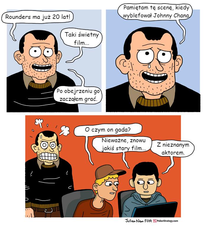 Śmieszny Pokerowy Komiks Johnny Chan