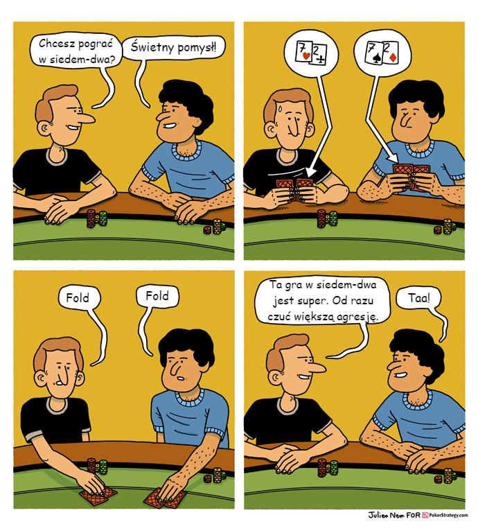Śmieszny Pokerowy Komiks Lowball