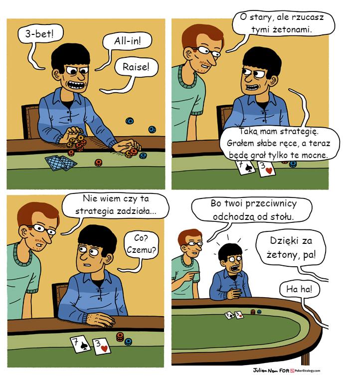 Śmieszny Pokerowy Komiks Pokerowa agresja