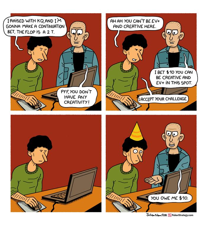 Funny Poker Cartoons Poker challenge