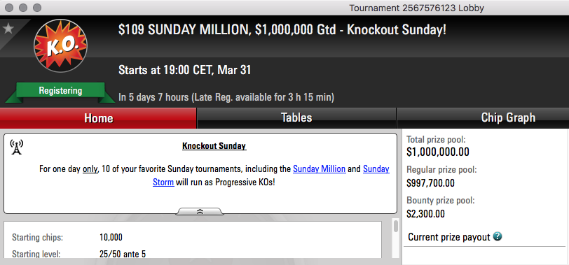sunday million PKO