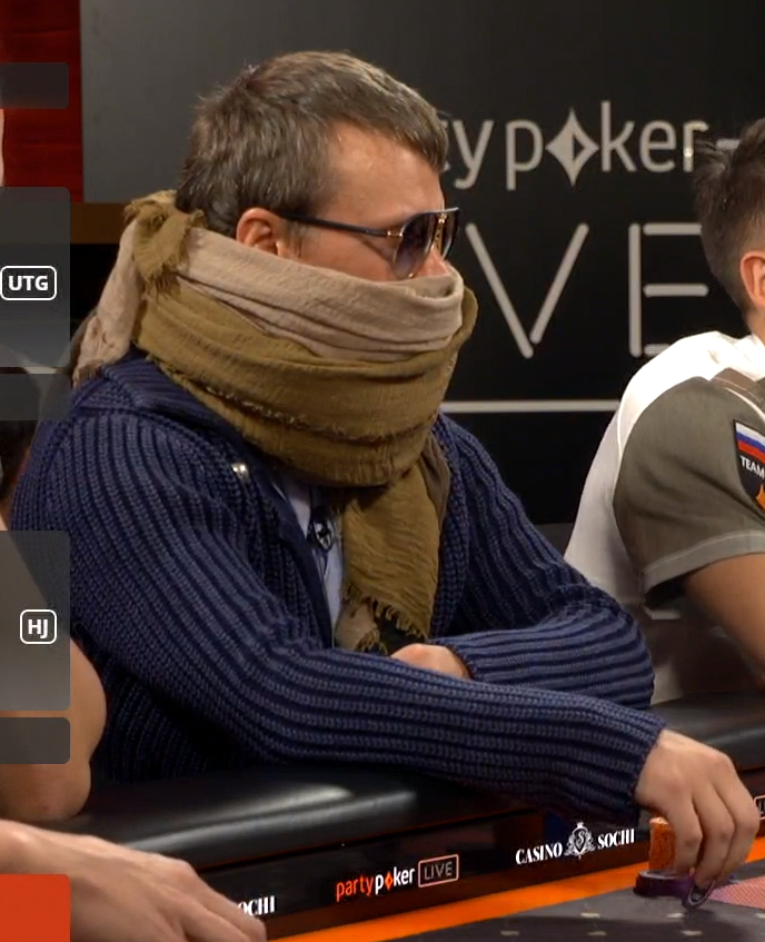 poker scarf