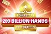 PokerStars celebrates 200 Billion Hands of Poker