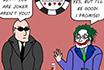 Poker Cartoon - The Joker