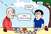 Poker Cartoon - Cheater