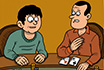 Poker Cartoon - Gentilezza