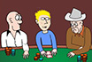 Poker Cartoon - Buffalo Bill