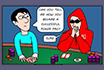 Poker Cartoon - Mini-cash