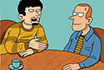 Poker Cartoon - Poker Couple