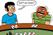 Poker Cartoon - Crazy Hand