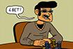 Pokerowy Komiks - Szalony przebijacz
