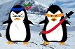 Ein Pinguin auf Beutejagd
